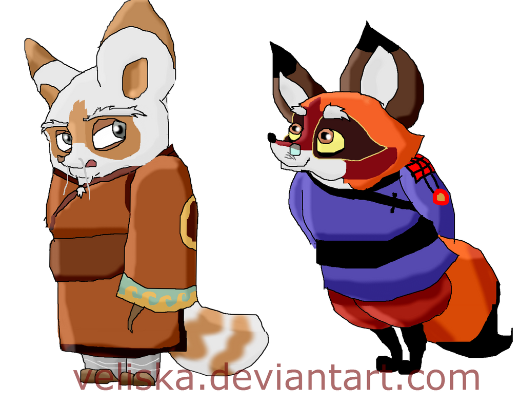 Junjie and Shifu by Veliska