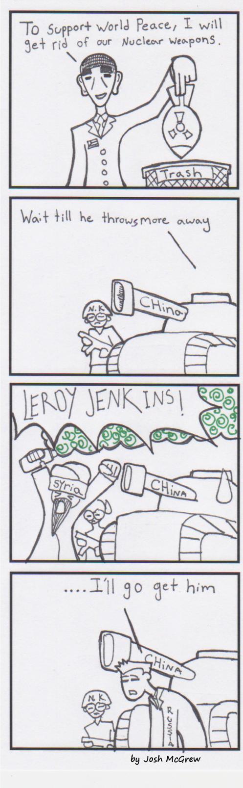 World peace to progress comic strips