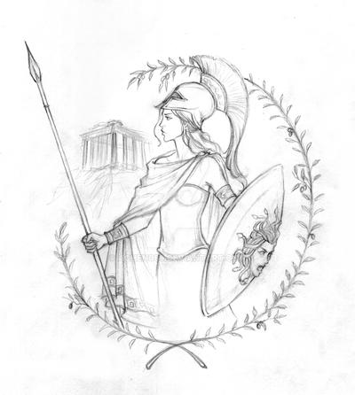Athena Sketch by Achen089 on DeviantArt