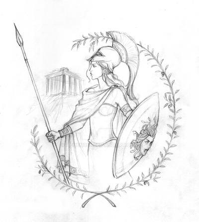 Athena Sketch by Achen089
