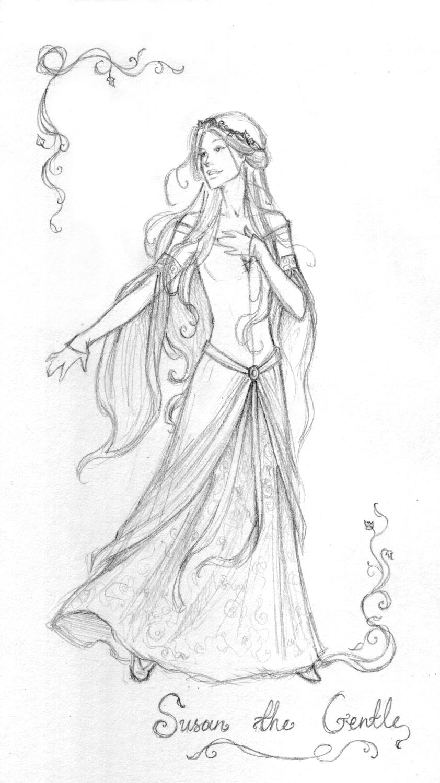 Line Art Queen : Susan the gentle by achen on deviantart
