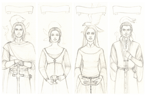 The Four Founders sketch