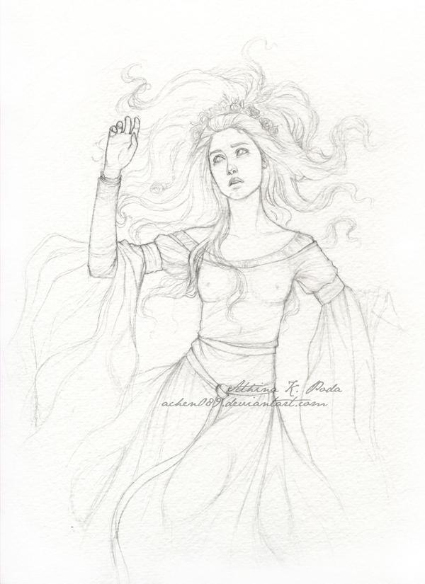 Ophelia II Sketch by Achen089