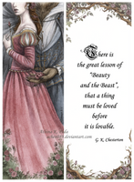Beauty and the Beast Bookmark by Achen089