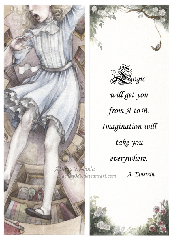 Alice In Wonderland Bookmark by Achen089