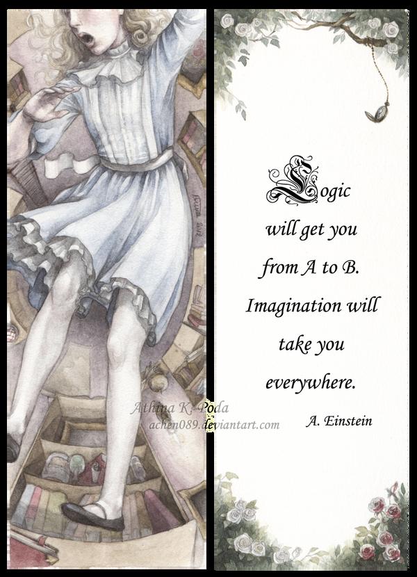 Alice In Wonderland Bookmark by Achen089