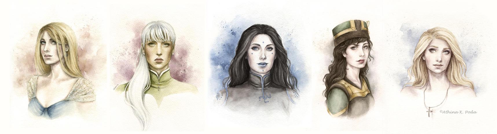 Portrait Commissions by Achen089