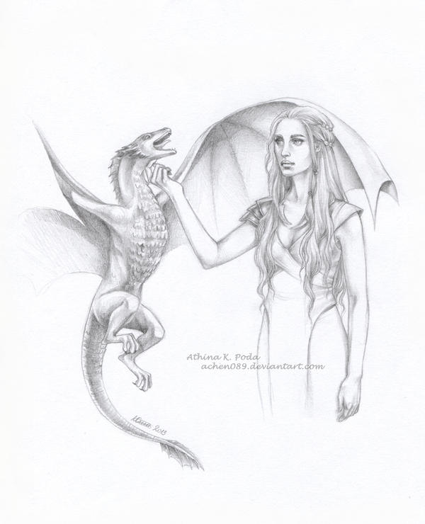 Dany and Drogon by Achen089