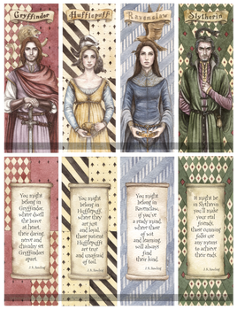 Hogwarts Founders Double-Sided Bookmarks