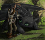 Hiccup into Night Fury