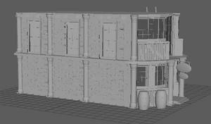 3D Model House Side 4 View