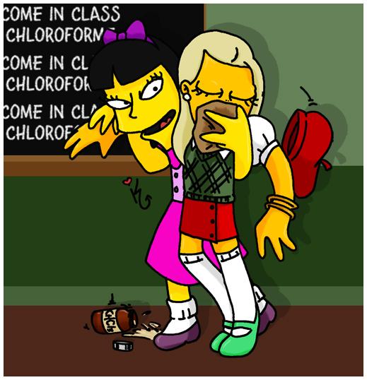 The Simpsons - Jessica chloroform Alex by kalahee