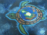 Great A'Tuin on canvas by Woschaebedip