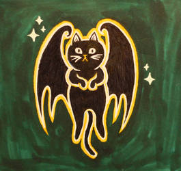 Inktober16 #28: BatCat/CatBat by Woschaebedip
