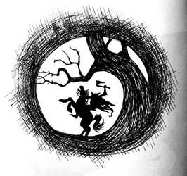 Inktober16 #29: Sleepy Hollow by Woschaebedip