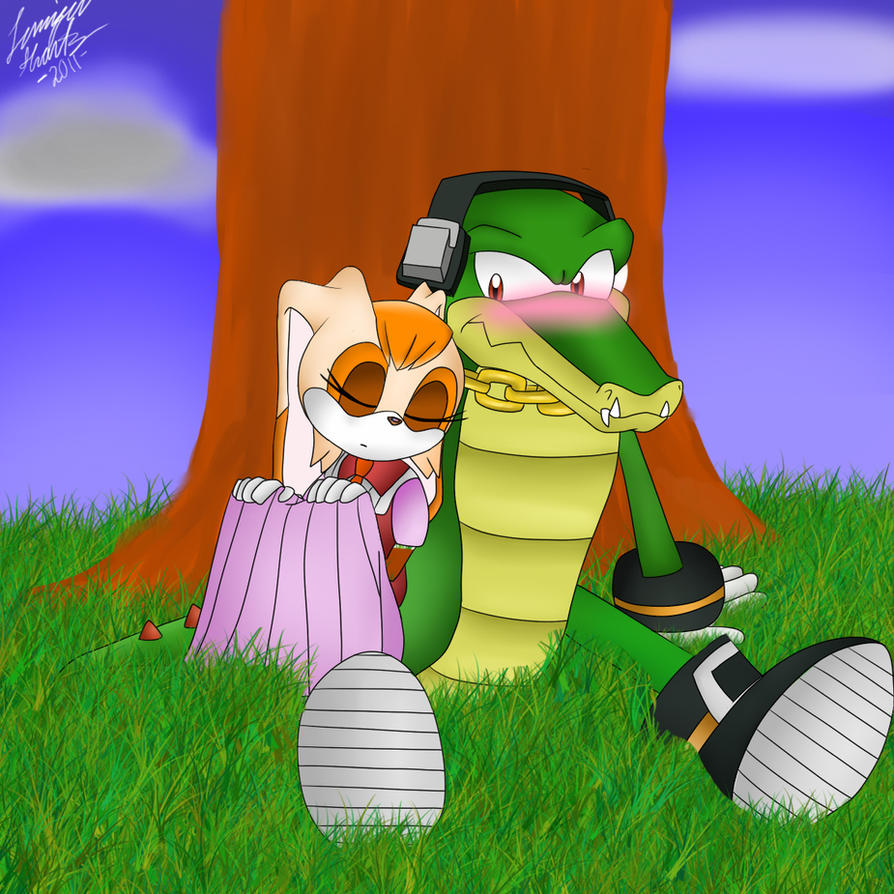Viewing Gallery For - Sonic X VanillaVanilla The Rabbit And Vector The Crocodile