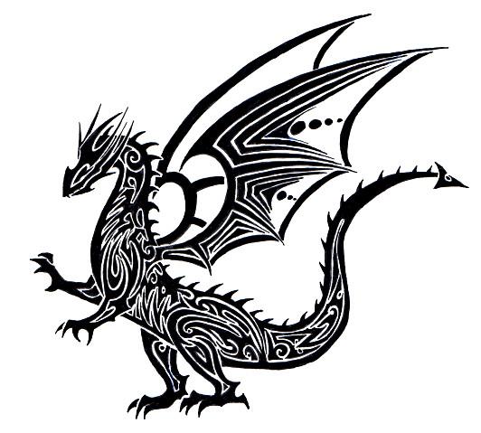 Tribal Scorpion By White Tigress 12158 On Deviantart: Tribal Dragon Tattoo By Tribalchick101 On DeviantArt