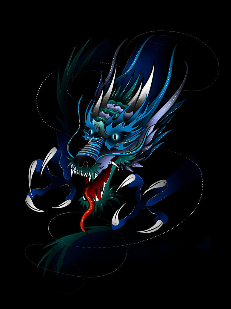 Japanese Dragon Design by Tribalchick101