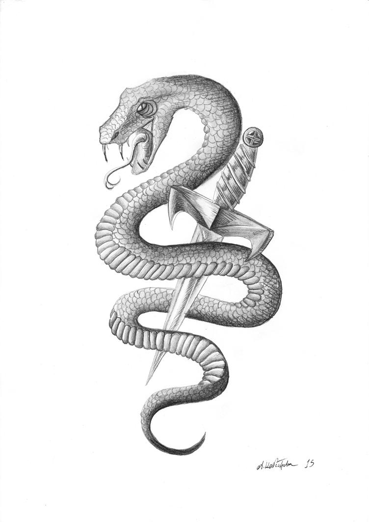 Snake Tattoo Design by Tribalchick101