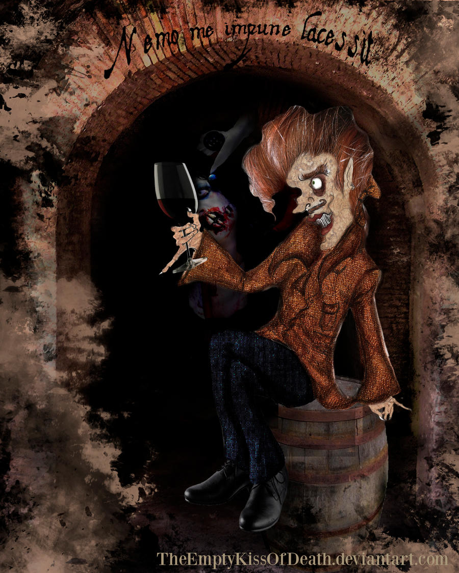 The Cask Of Amontillado Montresor Drawing In montresor's catacombs by
