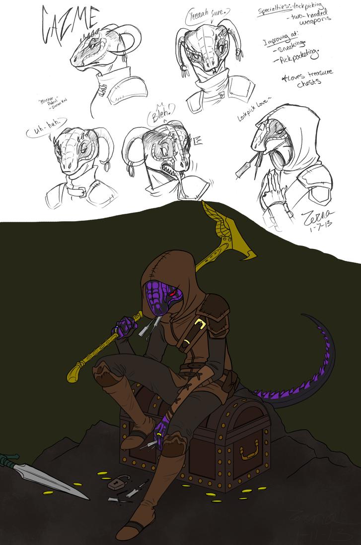 Skyrim Character--Cazme by Zerna
