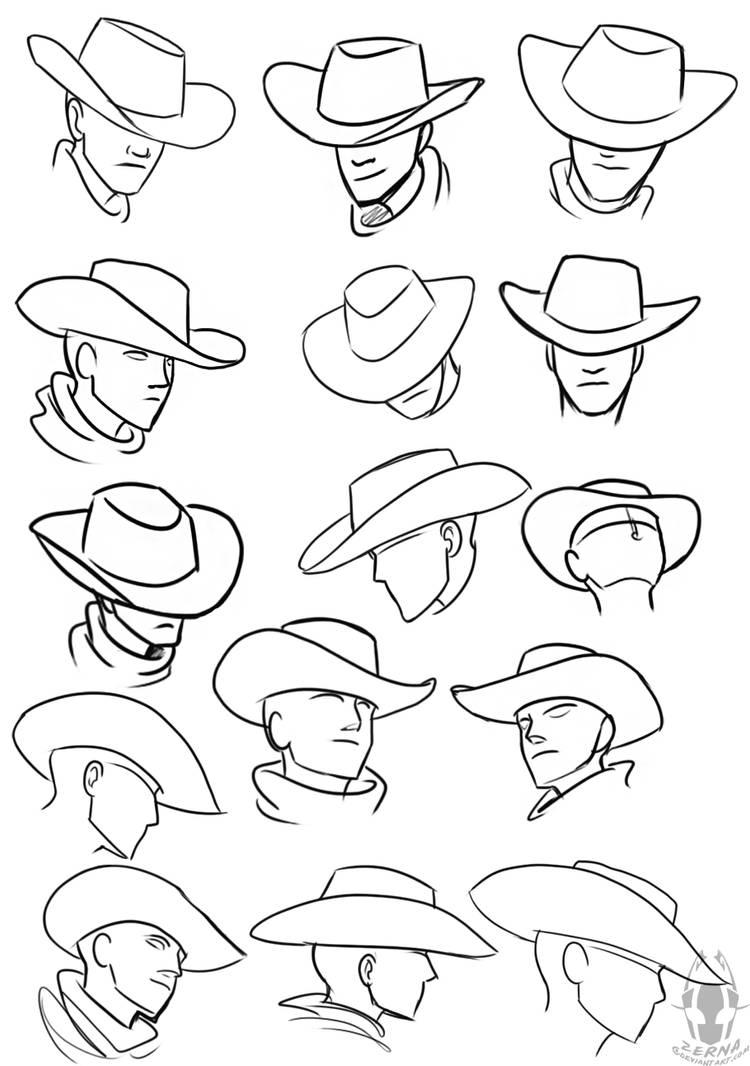 cowboy hat references by zerna on deviantart
