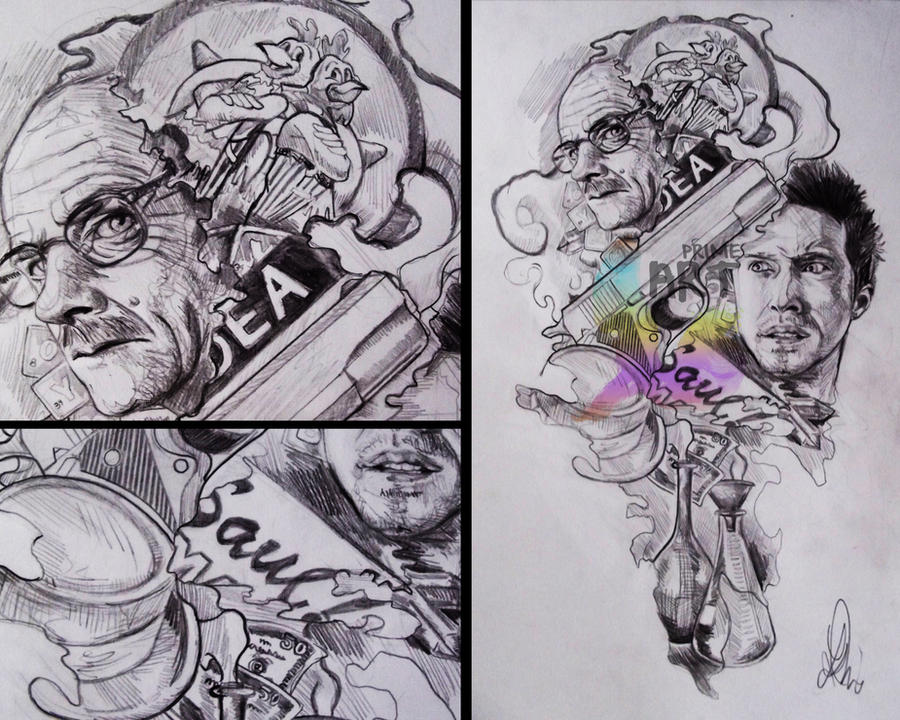 breaking bad tattoo design by whammeh on deviantart. Black Bedroom Furniture Sets. Home Design Ideas