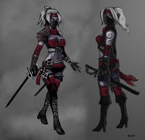 Drow Rogue Concept by OutlawOrange