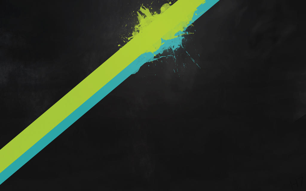 Green And Blue Splatter By Hazbroseven On Deviantart