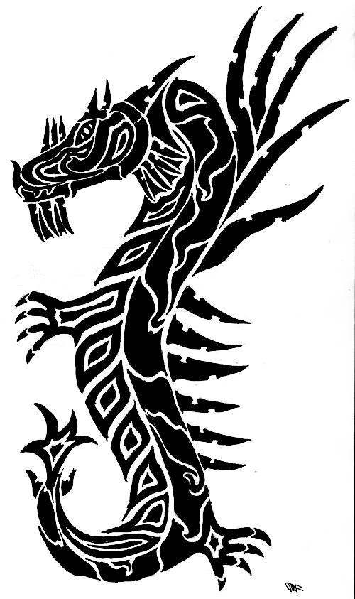 Tribal Dragon Design by