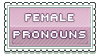 female pronouns stamp by urastamps