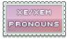 xe/xem pronouns by urastamps