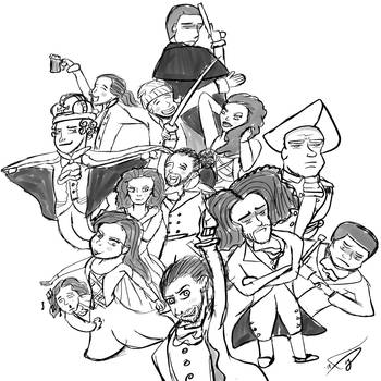The Cast of Hamilton by Figfire