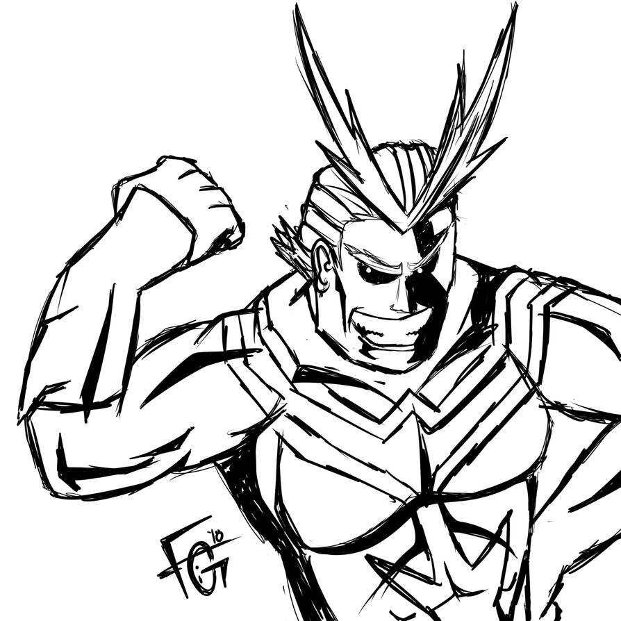 All MIght Sketch by Figfire
