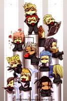 KH: Chibi Organization XIII by ShiroiNeko-sama