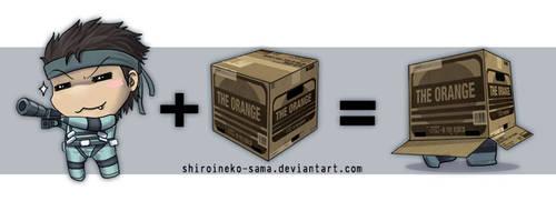 MGS: Chibi Snake + Box by ShiroiNeko-sama