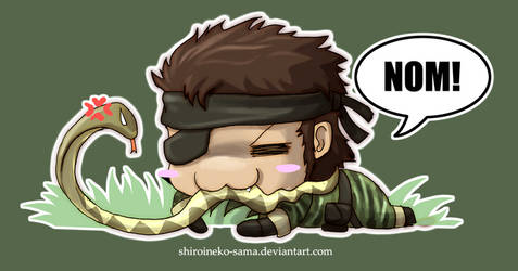 MGS3: Chibi Snake Eater by ShiroiNeko-sama