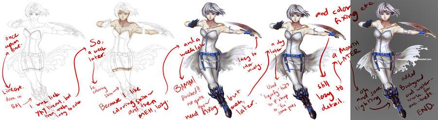 Progress of White Warrior by ShiroiNeko-sama