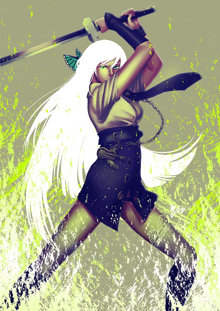Freya: Green Fire by ShiroiNeko-sama