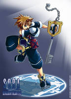 KH2:Sora by ShiroiNeko-sama