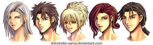 FF7 DoM: Character Portraits