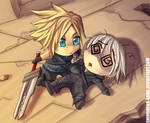 FF7AC: Chibi Cloud and Kadaj