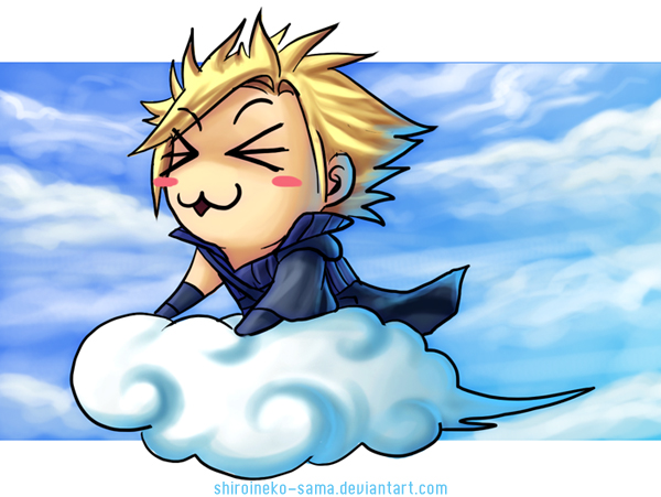 FF7AC: Cloud On A Cloud by ShiroiNeko-sama