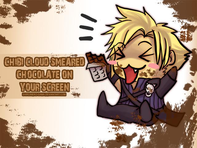 FF7: Chocolate On Yer Screen by ShiroiNeko-sama