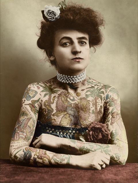 victorian tattoos. Tattooed Victorian Lady by