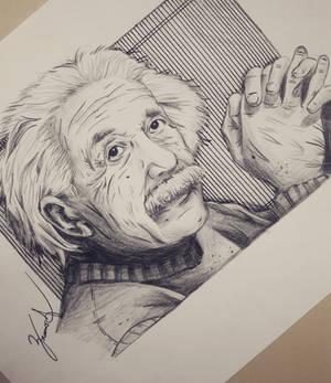 Albert Einstein (Drawing Photo)