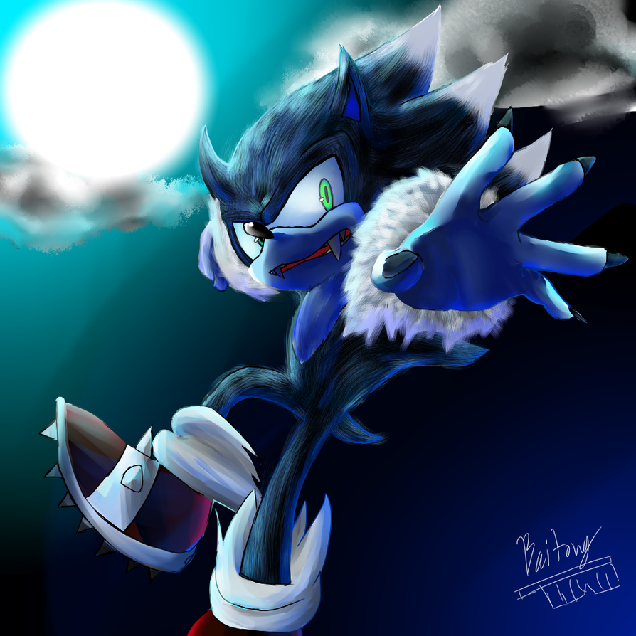 Sonic The Werehog By Baitong9194