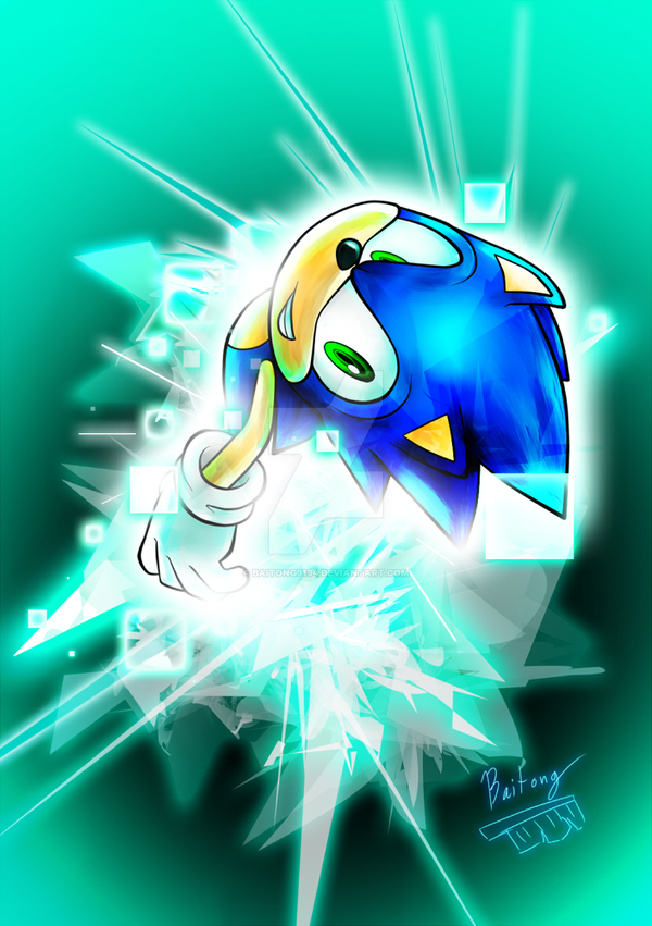 Sonic and cyan by Baitong9194