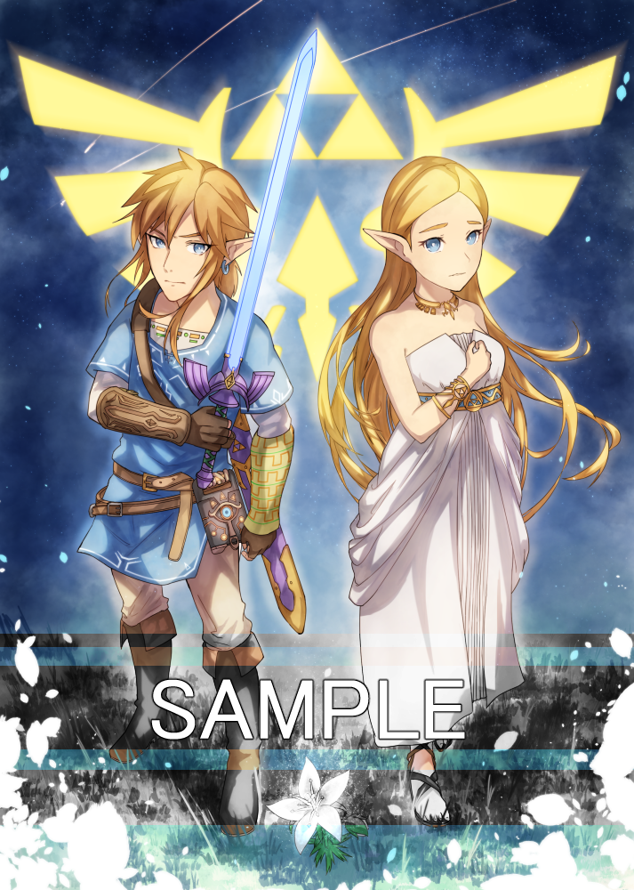 Botw Link And Zelda By Baitong9194 On Deviantart