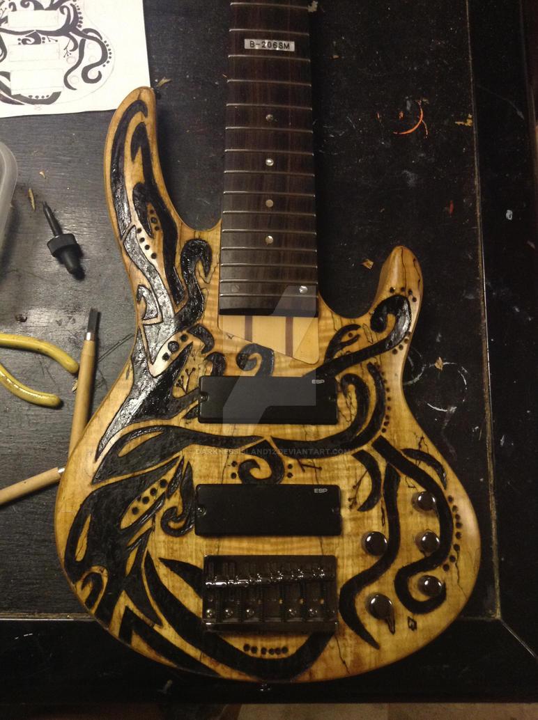 Tribal Tree Guitar Design by DarknessIsland12